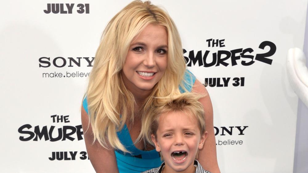 Britney Spears med sønnen som gråter