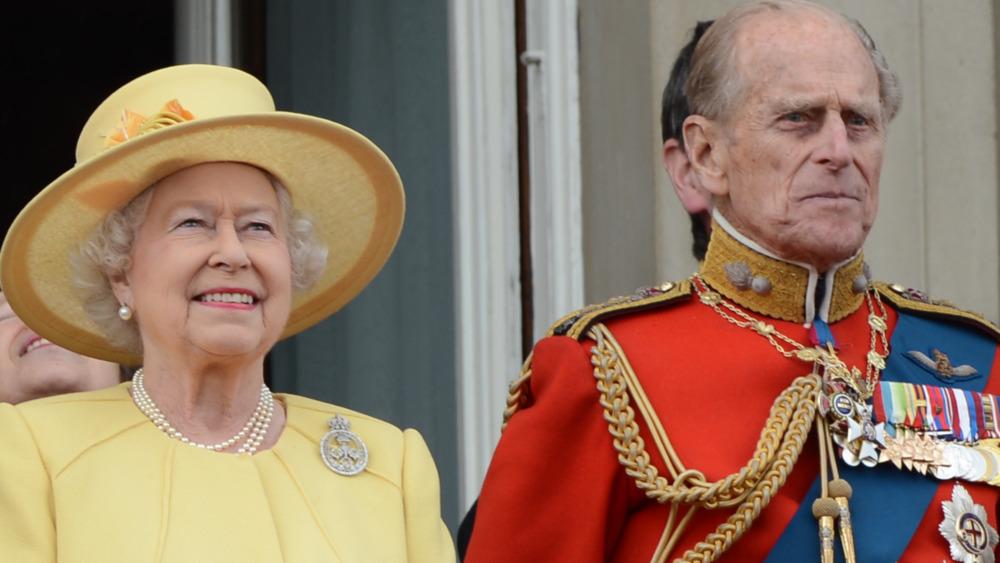 Dronning Elizabeth og prins Philip på arrangementet