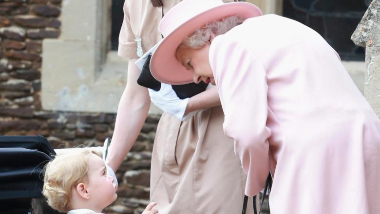 Dronning snakker med prins George