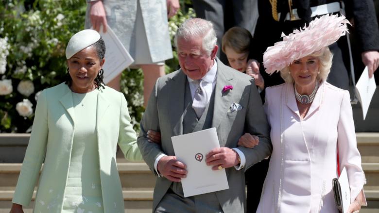 Doria Ragland med prins Charles og Camilla Parker Bowles