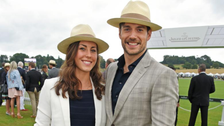 Lucy Cork og Henry Cavill på en polokamp i 2017