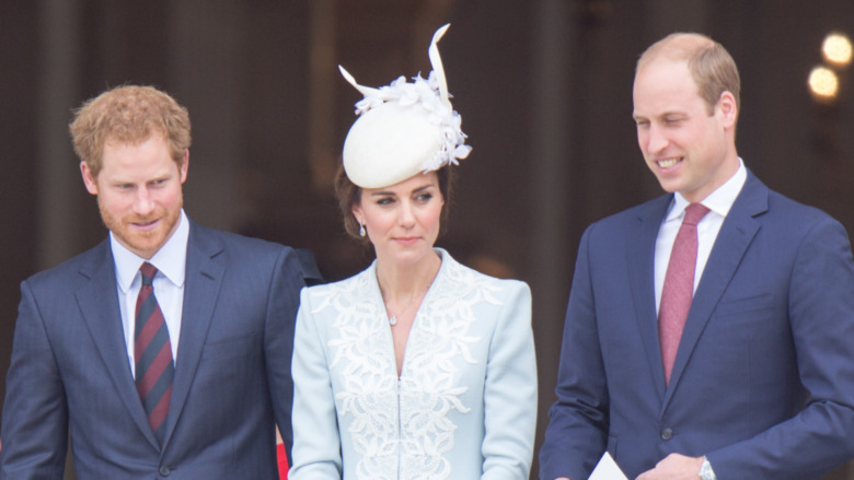 Prins Harry, Kate Middleton og prins William sammen
