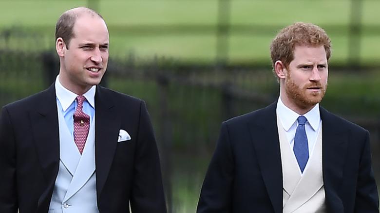 Prins William og prins Harry i formalwear