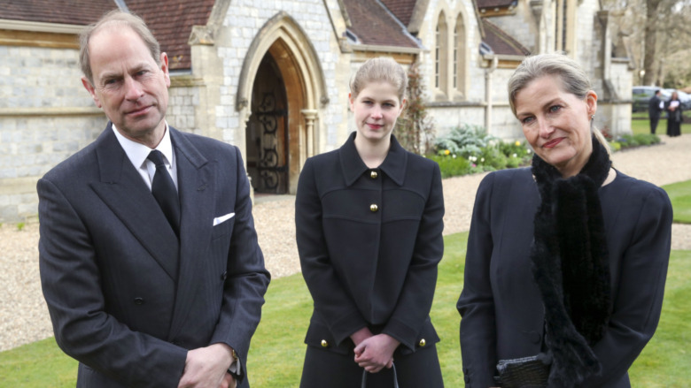 Prins Edward, Lady Louise Windsor og Sophie Rhys-Jones kirke