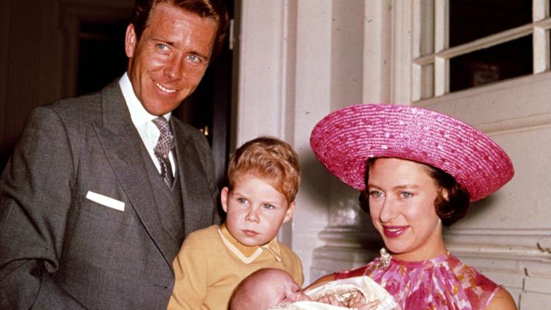 Antony-Armstrong Jones, David Linley, prinsesse Margaret smilende