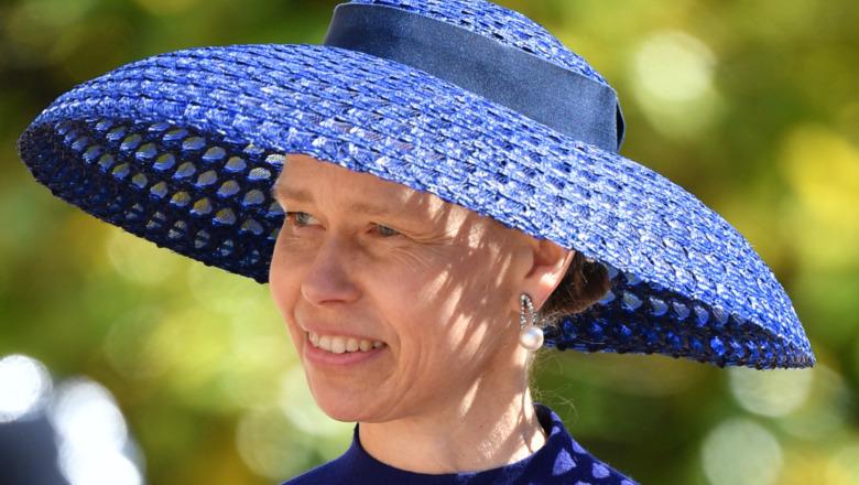 Lady Sarah Chatto deltar på bryllup