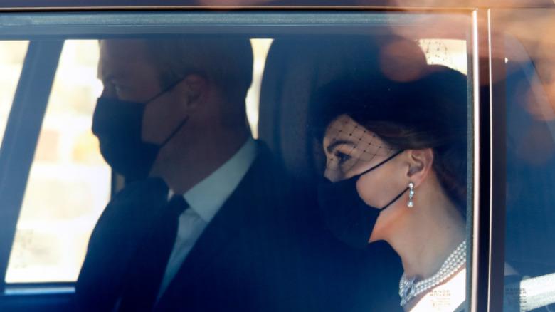 Prins William ved begravelsen til prins Philip 17. april 2021
