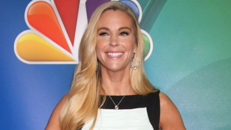 Kate Gosselin smiler på den røde løperen
