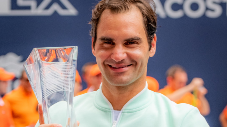 Roger Federer smiler