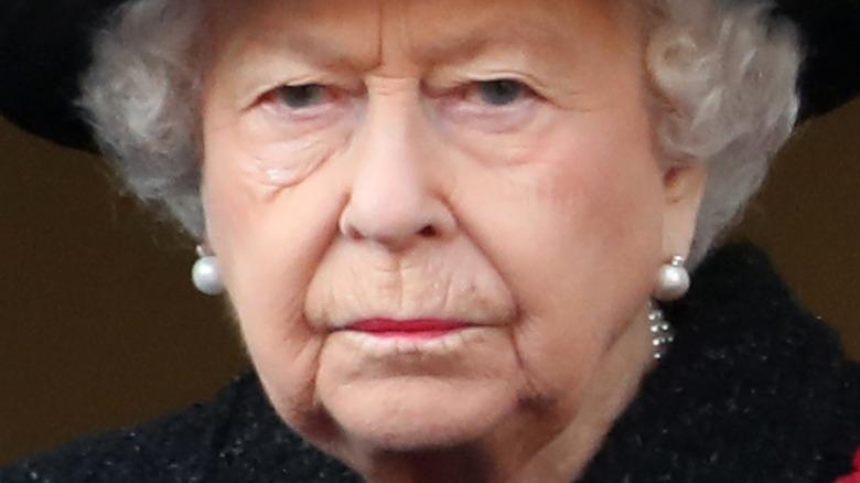 Dronning Elizabeth II på en årlig minnedag i 2019