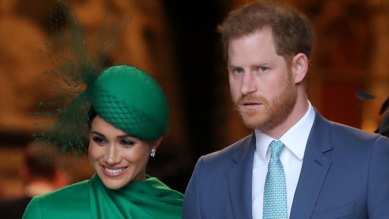Meghan og Harry deltar på Commonwealth Day-tjenesten