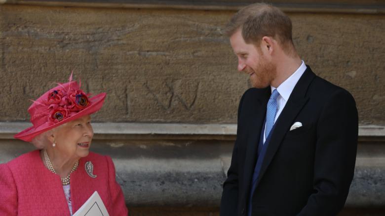 Dronning Elizabeth prins Harry Windsor
