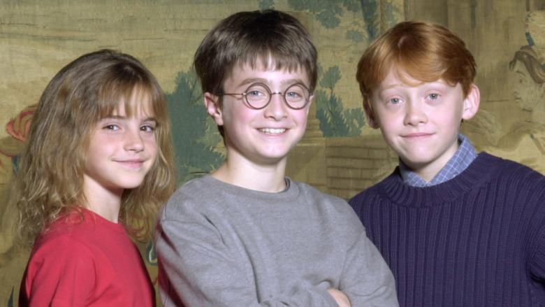 Emma Watson, Daniel Radcliffe og Rupert Grint i 2000.