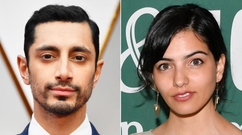 Riz Ahmed og Fatima Farheen Mirza smiler litt