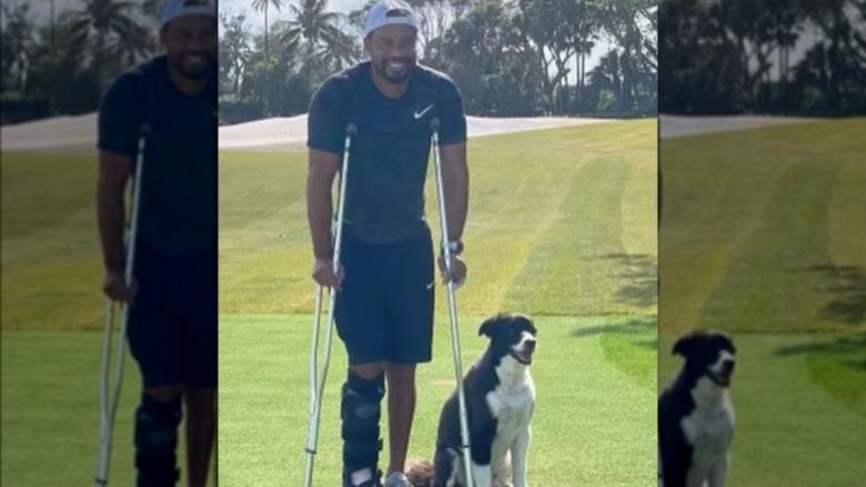 Tiger Woods smiler