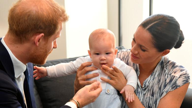 Prins Harry og Meghan Markle og Archie