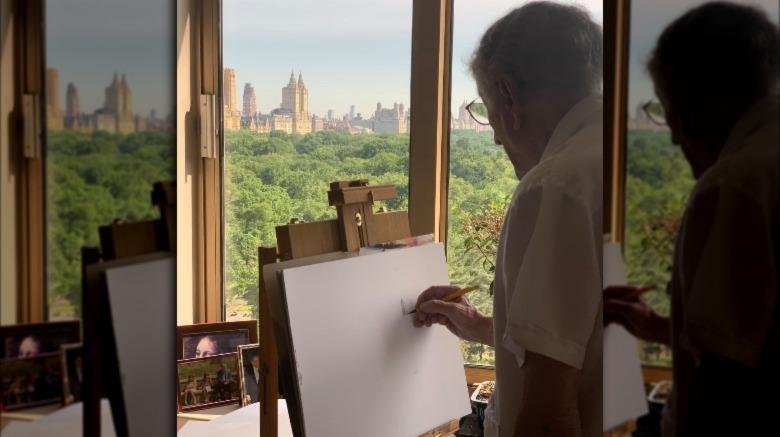 Tony Bennett tegner Central Park