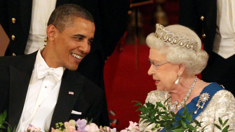 Barack Obama og dronning Elizabeth II