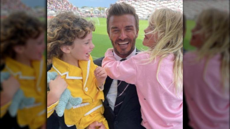 David Beckham med Liv Tylers barn, Lula og Sailor
