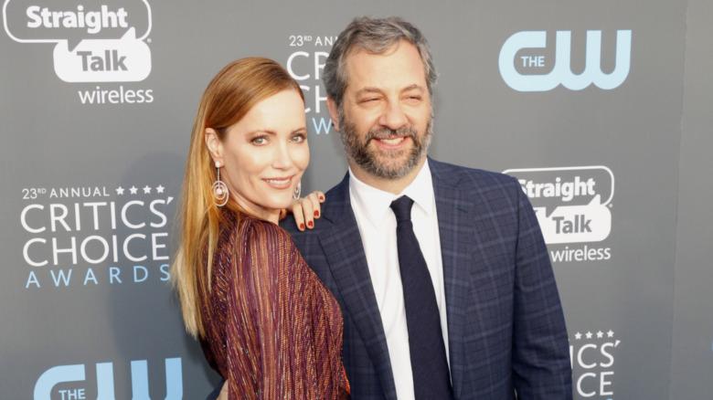 Leslie Mann og Judd Apatow smiler