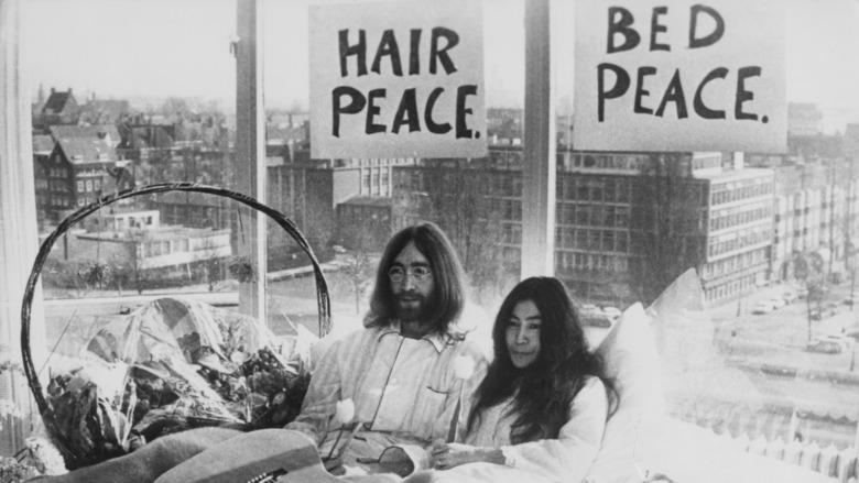 John Lennon og Yoko Ono i Amsterdam