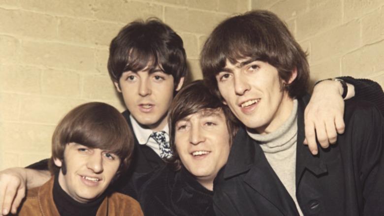 Beatles stiller for et portrett