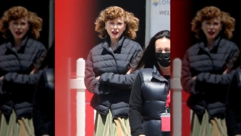 side om side av Nicole Kidman og Lucille Ball