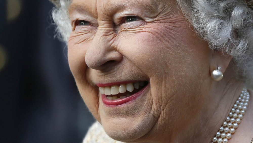 Dronning Elizabeth på arrangementet
