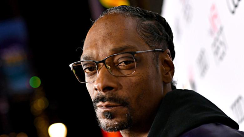 Snoop Dogg ser stoisk ut