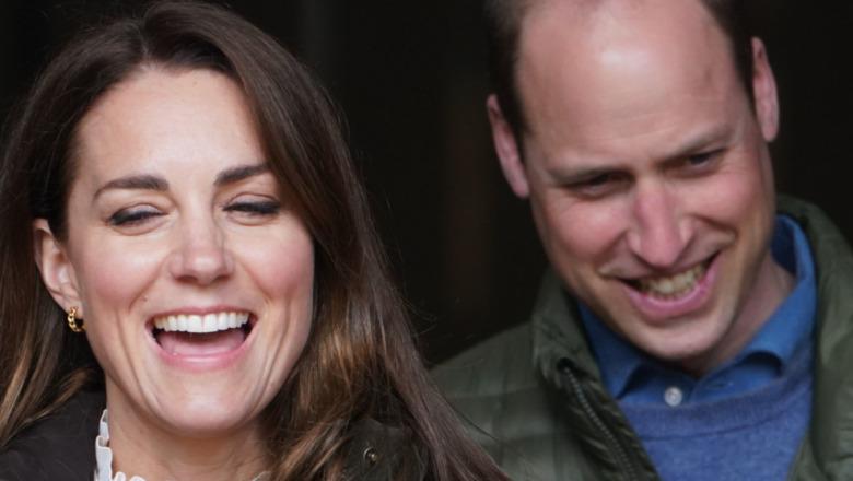 Prins William og Kate Middleton ler