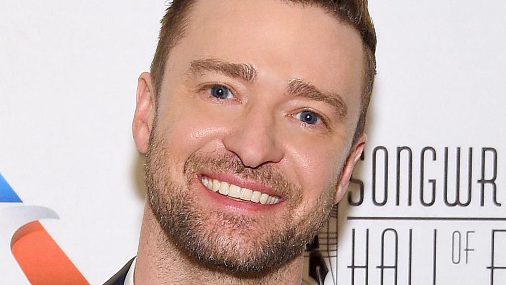 Hodeskudd av Justin Timberlake smilende