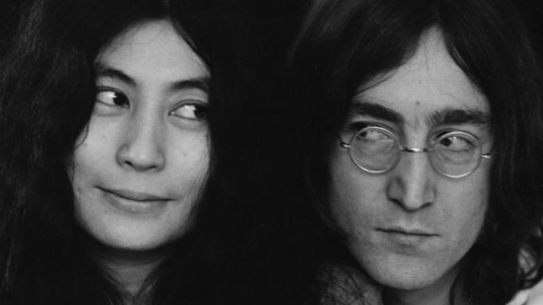 John Lennon og Yoko Ono sammen