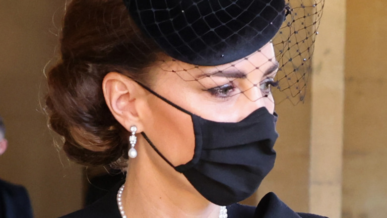 Kate Middleton ved begravelsen til prins Philip