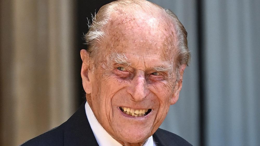 Prins Philip deltar på en seremoni i 2020