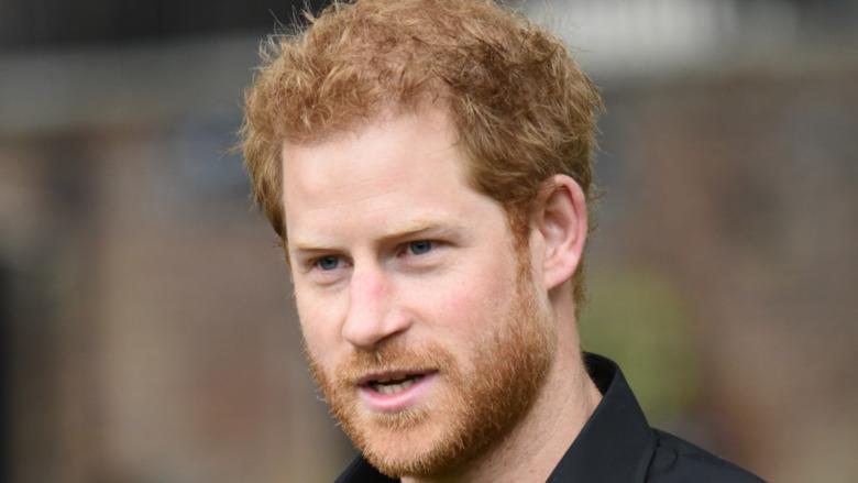 Prins Harry svart polo utendørs