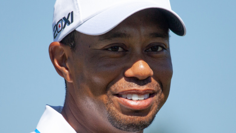 Tigers Woods smiler