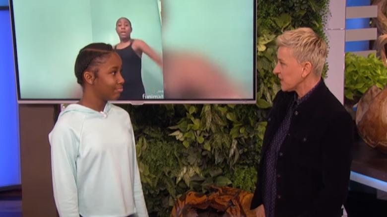 Jalaiah Harmon og Ellen DeGeneres på The Ellen Show