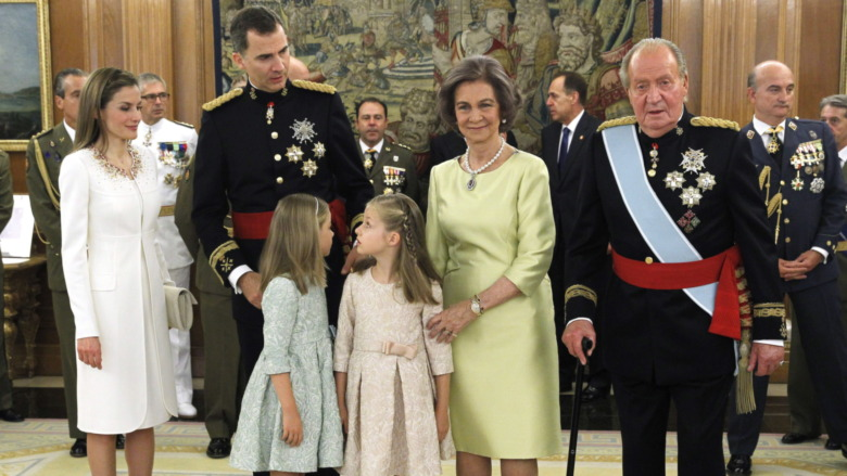 Spansk kongefamilie poserer 2014