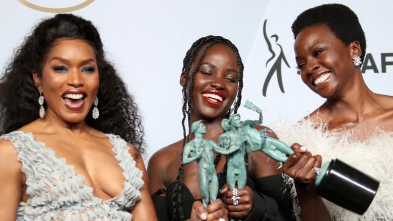 Cast of Black Panther tar imot priser