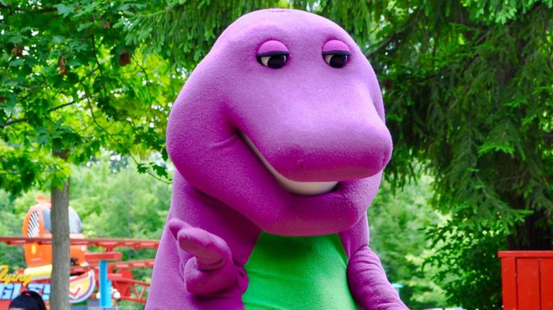 Barney dinosauren utenfor