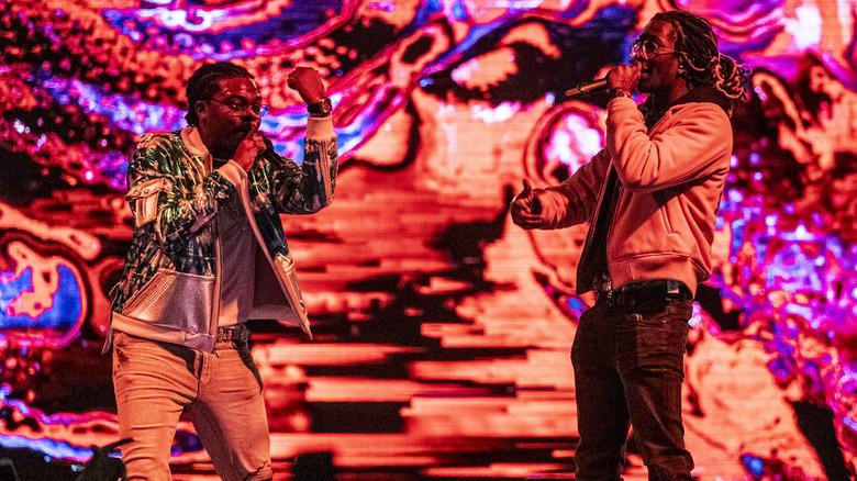 Gunna og Young Thug på scenen