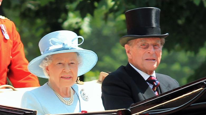 Dronning Elizabeth og prins Philip sammen