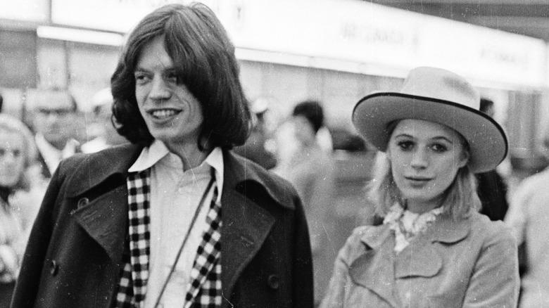 Mick Jagger og Marianne Faithfull på 1960-tallet