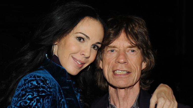 Mick Jagger og L'Wren Scott poserer