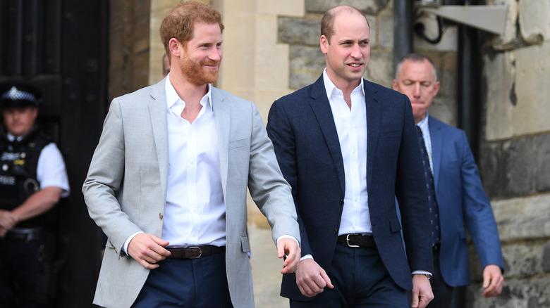 Prins Harry og prins William går