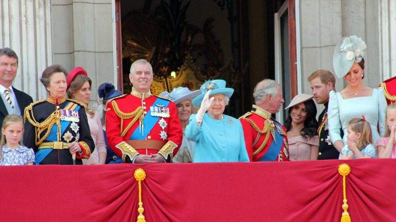 Den kongelige familien på Trooping the Color