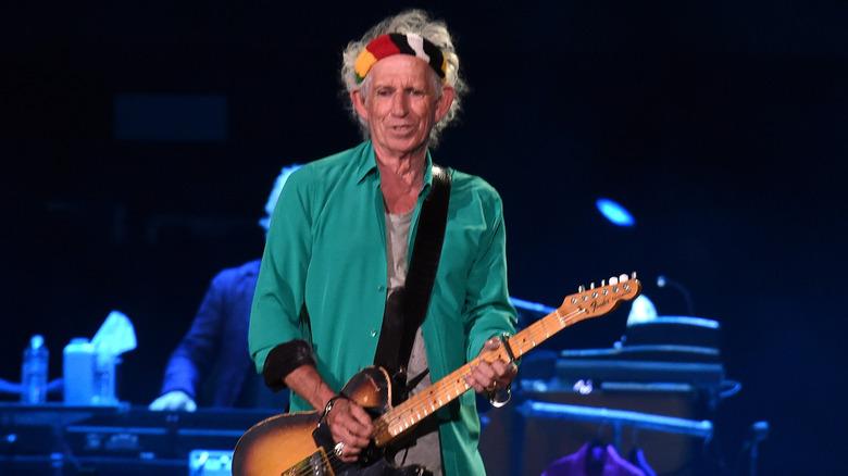 Keith Richards på scenen