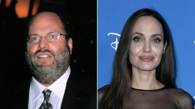 Scott Rudin grimaser og Angelina Jolie smiler