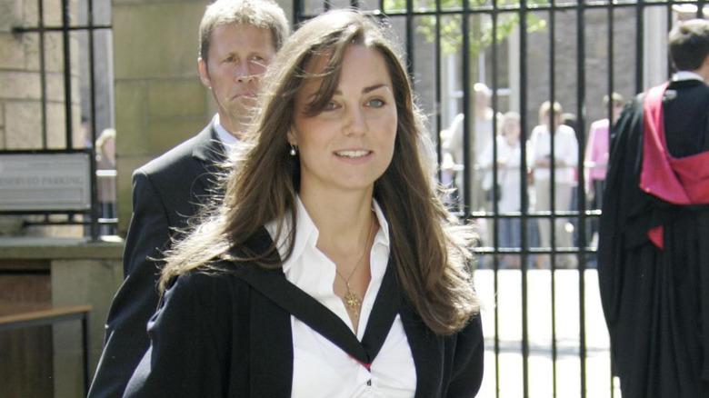 Kate Middle på eksamensdagen i 2005
