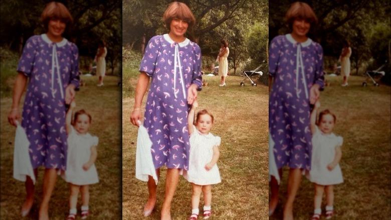 Unge Kate Middleton med moren